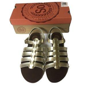 🆕 So Somarina Metallic Gladiator Sandals
